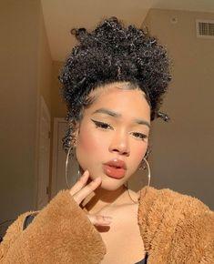 Baddie Hairstyles, Black Girls Hairstyles, Cute Hairstyles, Curly Hair Tips, Curly Hair Styles, Natural Hair Styles, Hair Inspo, Hair Inspiration, Hair Reference