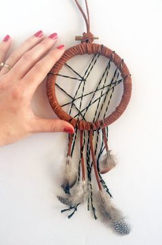 Handmade Dreamcatcher - Bohemian Christmas Present Idea - Modern Boho Decor - Boho Dream Catcher - Boho Wall Hanging - Bohemian Wall Art - Shop Junylie  - 1