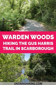 Warden Woods is a fantastic place to go hiking in Toronto! Also known as the Gus Harris Trail, it's a scenic walk by a pretty little creek. Here's how to go hiking at Warden Woods in Scarborough (Toronto, Ontario).   #Hiking #Ontario #Scarborough #Toronto #Canada  Toronto hikes | Toronto walks | Things to do in Toronto | Scarborough Ontario | Hiking in Toronto | Hiking Near Toronto | Places to Visit in Toronto | Things to See in Toronto