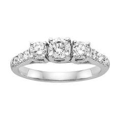 1 ct. tw. Diamond Wedding Ring in 14K White Gold