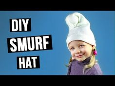 How to make Smurf hat. In this tutorial we'll make a funny handmade Smurf hat using white knitted fabric. #Smurfhat #DIYhat #kidscostume