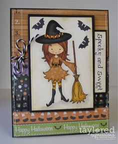 Moka Tabitha halloween witch card by Melody Rupple #Moka