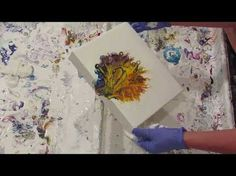 Fluid Painting 3 DIFFERENT Acrylic POURS With and Without SILICONE - YouTube