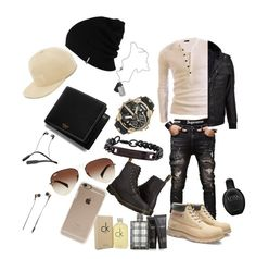 Fresh and ready to roll casual men's outfit by hanarana on Polyvore featuring polyvore, Wilsons Leather, Caterpillar, Dr. Martens, Diesel, Ray-Ban, Mulberry, Patagonia, Stussy, Incase, Skullcandy, Master & Dynamic, Thomas Wylde, Calvin Klein, Burberry, men's fashion, menswear and clothing
