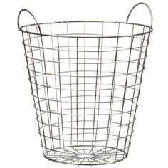 Metal-Wire-Woven-Waste-Paper-Basket-Bin-with-Handles-Home-Office-5L