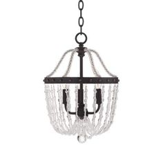"""Riviera Collection 12"""" Wide Bronze Mini Chandelier 