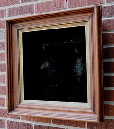 Antique VICTORIAN Walnut SHADOWBOX Black Velvet Picture FRAME 16.5 x 16.5 C1900 #Victorian #unknown