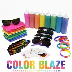 Color Powder Birthday Party In A Box!  What a fun birthday party - stage a color war in your backyard!