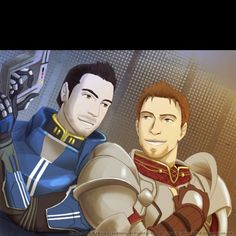 Kaidan and Alistair. When I play Dragon Age, I prefer Alistair... When I play Mass Effect, I prefer Kaidan. BioWare just makes guys I think are cool