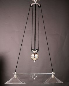 Lovely Edwardian Silver Plated Double Rise and Fall