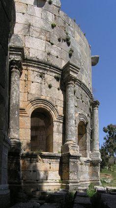 view - apse of the 5th Century #Byzantine church of saint simeon stylites, #syria