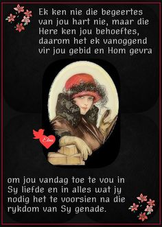 Good Morning Inspiration, Goeie Nag, Goeie More, Good Night Quotes, Afrikaans, Christianity, Bible, Words, Movie Posters