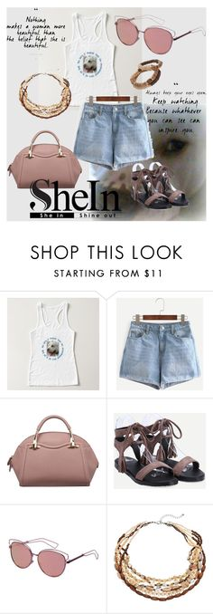 """""""Pit bull love"""" by the-student-bride ❤ liked on Polyvore featuring Sheinside, Pitbulls, shein and thestudentbride"""