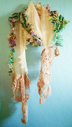 Lace Scarf by ltl blonde, via Flickr http://onceuponapinkmoon.blogspot.com/search?q=lace+scarf