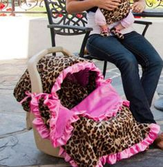 Lollipop Leopard Stroller Blanket-baby bella maya, blanket, stroller blanket, baby shower gift, trendy, baby boutique, pink, girl, leopard