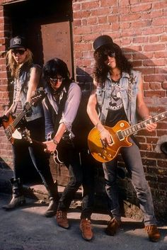 Duff, Izzy and Slash 80s Hair Bands, Heavy Metal, 80s Rock, Axl Rose, Cool Bands, Metallica, Guns N Roses, Glam Metal, Lo Mejor Del Rock