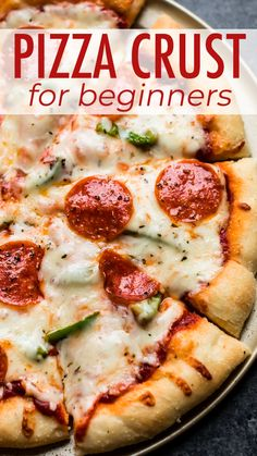 This easy pizza dough recipe is great for beginners and produces a soft homemade pizza crust. Skip the pizza delivery because you only need 6 basic ingredients to begin!
