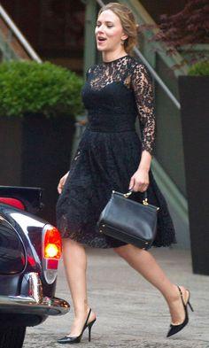 Scarlett Johansson in a Dolce & Gabbana dress in Manhattan - Monday 15 July 2013