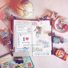 My MTN on IG by pastel_paperplane #travelersnotebook #midori