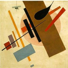 "Suprematism (Russian: Супремати́зм) was an art movement, focused on basic geometric forms, such as circles, squares, lines, and rectangles, painted in a limited range of colors. It was founded by Kazimir Malevich in Russia, around 1913, and announced in Malevich's 1915 exhibition in St. Petersburg where he exhibited 36 works in a similar style. The term suprematism refers to an abstract art based upon ""the supremacy of pure artistic feeling"" rather than on visual depiction of objects."