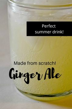 Fruit Drinks, Smoothie Drinks, Yummy Drinks, Smoothies, Beverages, Ginger Ale Recipe, Homemade Ginger Ale, Home Fermenting, Fermentation Recipes
