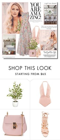 """""""For success, attitude is equally as important as ability!!"""" by lilly-2711 ❤ liked on Polyvore featuring Nearly Natural, ADRIANA DEGREAS, Chloé and Schutz"""