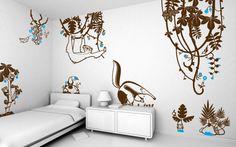 vinilos tutti frutti - vinilos infantiles para habitaciones bébés, niños, niñas por E-Glue estudio
