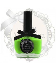 109 Ультра яркий салатовый неоновый оттенок. Лак для ногтей Viva Viktoriya