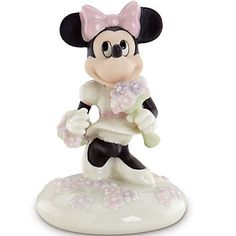 LENOX Figurines: Mickey & Friends - Disney's Blooms for Minnie Figurine