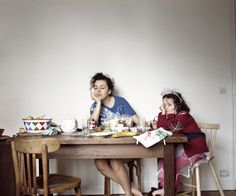 Bory and her daughter sit together on a Sunday morning. (Aglaé Bory)
