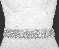 Bridal Sash Rhinestone Bead Belt Bridal Beaded Rhinestone Sash For Wedding Dress Bridal Belt Wedding Dress Sash, Wedding Belts, Bridal Sash, Bridal Dresses, Wedding Gowns, Dream Wedding, Wedding Day, Wedding Stuff, Wedding Things