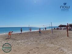 The entertainment team at Now Sapphire is always ready to get guests on their feet! Try a game of beach volleyball!