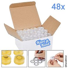Kare & Kind 48 packs DIY Natural Empty Lip Balm Container...