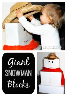 GIANT DIY Snowman Blocks for Toddlers