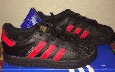 Little Boys Adidas Superstar Shoes Toddler size 9 C NIB