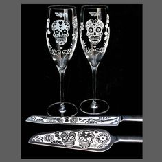 NEW Dia De Los Muertos Wedding Cake Server & by bradgoodell, $210.00