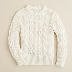 Girls' cotton cable tunic from J.Crew, $88