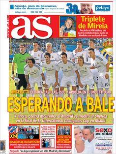 Los Titulares y Portadas de Noticias Destacadas Españolas del 5 de Agosto de 2013 del Diario AS ¿Que le pareció esta Portada de este Diario Español?