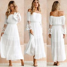 Dresses For Teens Wedding, Lace Summer Dresses, Little White Dresses, Vestidos Sexy, Vestidos Vintage, Maxi Dress With Sleeves, Lace Sleeves, Sleeve Dresses, Maxi Dresses