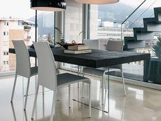 Rechteckiger Tisch aus Holz AIR WILDWOOD by Lago Design Daniele Lago