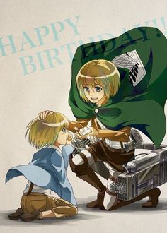 Armin Arlert - Past and Present. Totally not having the feels.