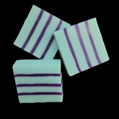 Spring is here! It is time to start dreaming of crocuses, daffodils, and lilac in bloom. In keeping with spring fever, here is Aqua and Bluish Purple in a Shea Butter & Glycerin bar. I finished the brew with some Mauve Mica for shimmer in the dark stripes. Mica is a mineral which is ground up very fine and used in eye shadow to color to make it shimmer. Is this a girlie bar? Oh yes! But don't trust the male in your house to leave it alone. Mauve, Lilac, Purple, Homemade Bath Bombs, Spring Is Here, Spring Fever, Daffodils, Soap Making, Eye Shadow