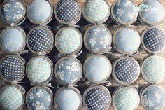 www.kamalion.com.mx - Recuerdos / Giveaways / Favors / Detalles Personalizados / Vintage / Baby Shower / It's a boy / Azul / Blue / Kit de costura / Mason jar / Sewing kit / Costureros / Hilo / Aguja / Alfileres / Botones.