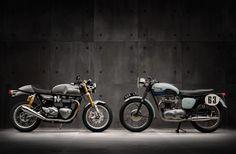 Nuova gamma Modern Classic targata Triumph Motorcycles: -Street Twin > 900cc, raffreddamento a liquido -Thruxton R > 1.200cc, Brembo radiali, Pirelli Diablo Rosso Corsa -Thruxton > 1.200cc -Bonneville T120 > 1.200cc -Bonneville T120 Black > 1.200cc