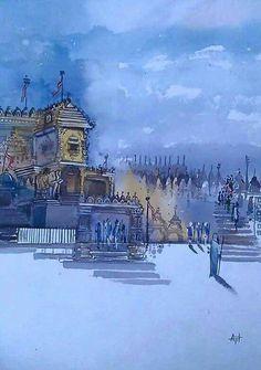 Jain Temple, Pencil Drawings, Mini Albums, Destiny, Watercolor Paintings, Colour, God, Photography, Color