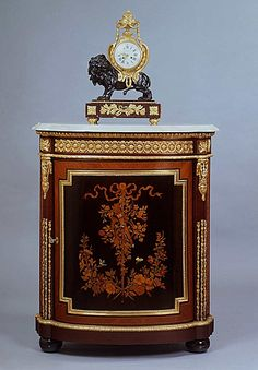 A Fine Napoleon III Gilt-Bronze Mounted Corner Cabinet With An Algerian Onyx Top - French   c.1870