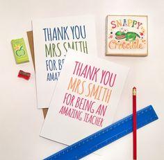 Thank You Teacher Greeting Card £3.00