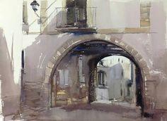 4 Sketching, Watercolor, Building, Watercolor Artists, Watercolor Painting, Architecture, Buildings, Watercolors, Construction