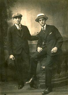 Opa Johan en een vriend