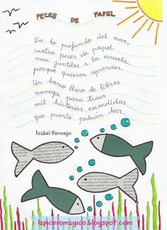 LAPICERO MÁGICO: Poesía de papel Preschool Poems, Preschool Activities, Writing Poetry, Kids Writing, Simple Poems, Poetry For Kids, School Decorations, Teaching Spanish, Spanish Classroom